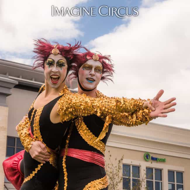 STACRO | Stilt Acrobats | Adam & Liz Bliss | Imagine Circus | North Hills | Photo by Slater Mapp