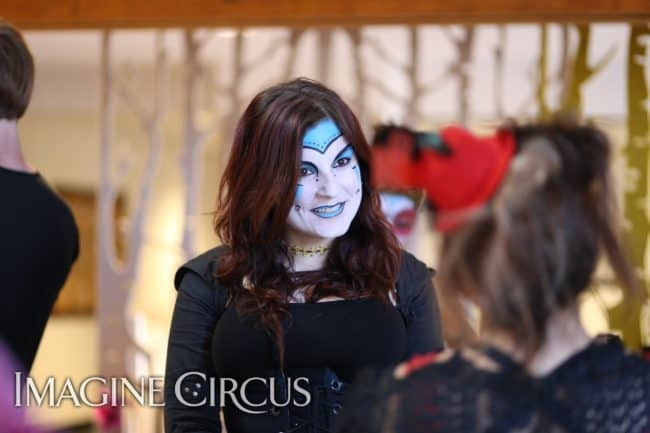 Cirque Makeup | Performer | Christine | Imagine Circus | HQ Raleigh | Photo by Kaili Ingram