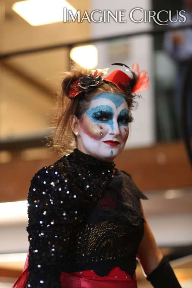 Cirque Makeup | Performer | Irene | Imagine Circus | Photo by Kaili Ingram