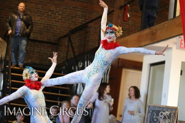Partner Acrobat Duo | Performers | Kaci & Katie | Imagine Circus | Photo by Kaili Ingram