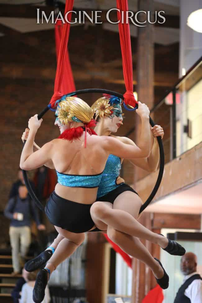 Partner Lyra | Aerial Hoop Duo | Imagine Circus | Performers | Katie & Liz | Photo by Kaili Ingram