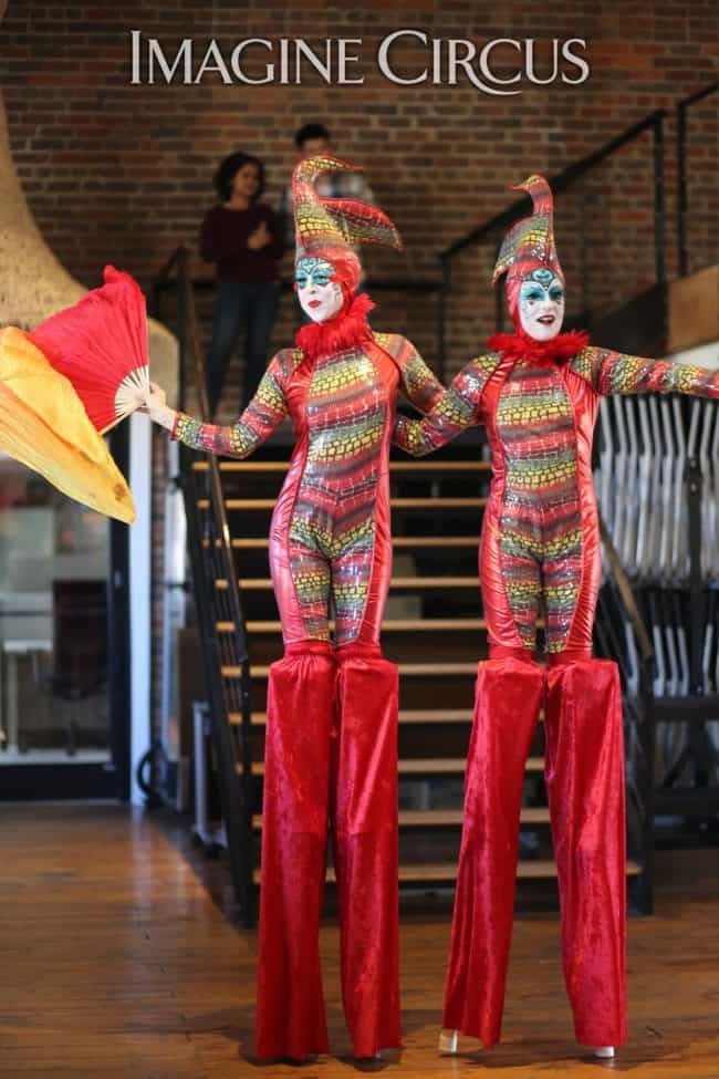 Stilt Walkers | Cirque Birds | HQ Raleigh | Imagine Circus | Performers | Katie & Liz | Photo by Kaili Ingram