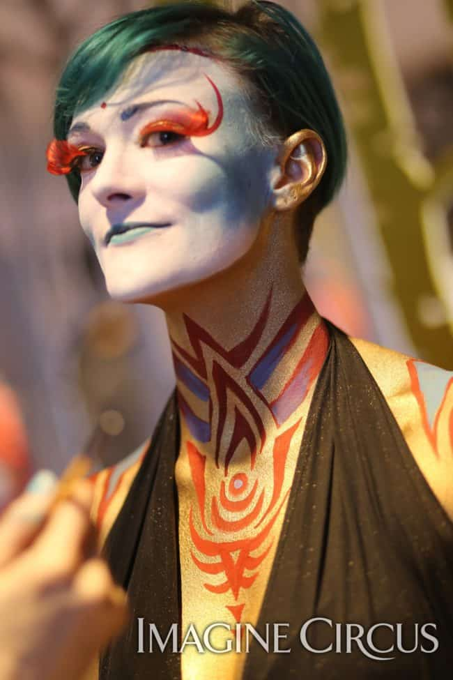 Bodypaint | Live Body Art | Imagine Circus | HQ Raleigh | Photo by Kaili Ingram
