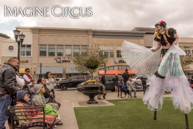Stilt Walker | Isis Wings | Lacy Blaze | Imagine Circus | North Hills | Photo by Slater Mapp