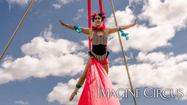 Aerial Silks | Performer | Liz Bliss | Imagine Circus | Photo by Slater Mapp