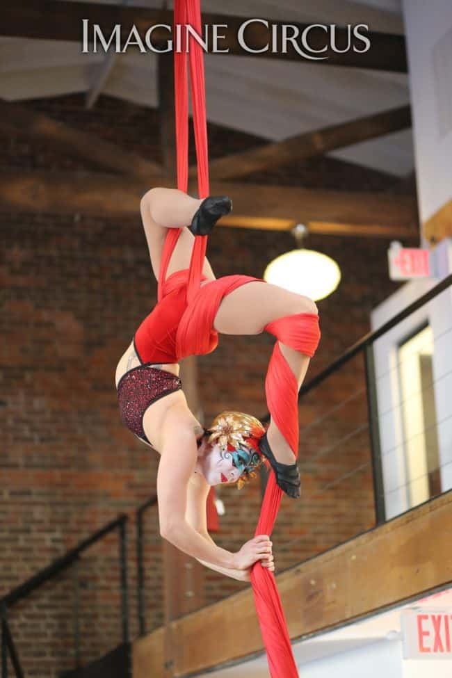 Aerial Silks | Performer | Liz Bliss | Imagine Circus | HQ Raleigh | Photo by Kaili Ingram