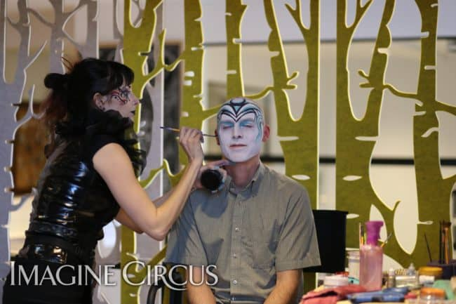 Face Painter | Molly | Adam | Imagine Circus | HQ Raleigh | Photo by Kaili Ingram