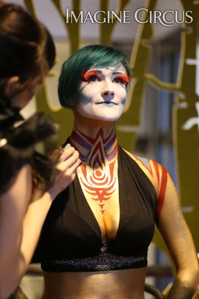 Bodypaint | Live Body Art | Molly | Kaylan | Imagine Circus | HQ Raleigh | Photo by Kaili Ingram