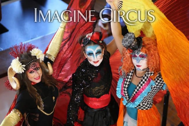 Cirque Costume | Robin, Irene & Mindy | Imagine Circus | HQ Raleigh | Photo by Kaili Ingram