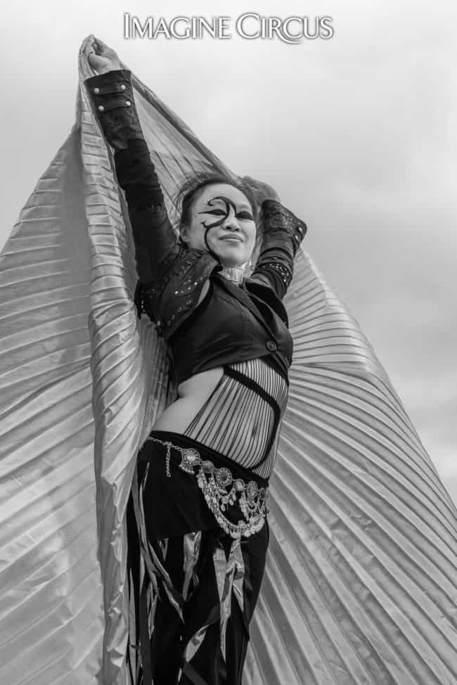 Isis Wings | Dancer | Asyia | Imagine Circus | Photo by Slater Mapp
