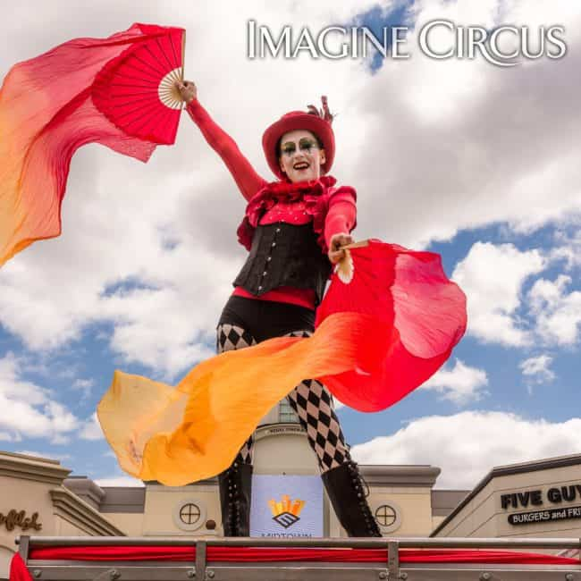 Ring Master | Silk Fans | Katie | Imagine Circus | Photo by Slater Mapp