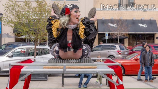 Sideshow | Bed of Nails | Performer | Lacy Blaze | Imagine Circus | Photo by Slater Mapp