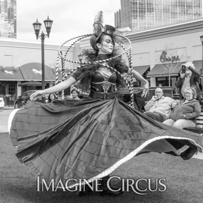 Spinning Skirt Dancer | Hoop Cube | Mindy | Imagine Circus | Photos by Slater Mapp