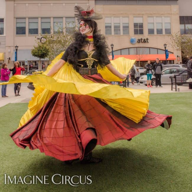 Spinning Skirt Dancer | Isis Wings | Mindy | Imagine Circus | Photos by Slater Mapp