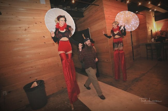 Vintage Circus Performers | Stilt Walker | Kaci | Wig Out Event | Imagine Circus