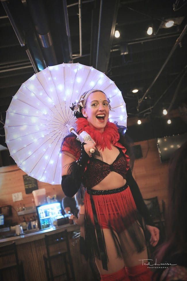 Vintage Circus Performers | Stilt Walker | Katie | Wig Out Event | Imagine Circus