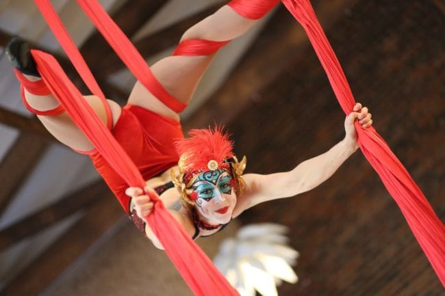 Modern Cirque Aerial Silks Performer | Liz Bliss | Imagine Circus | Raleigh, NC