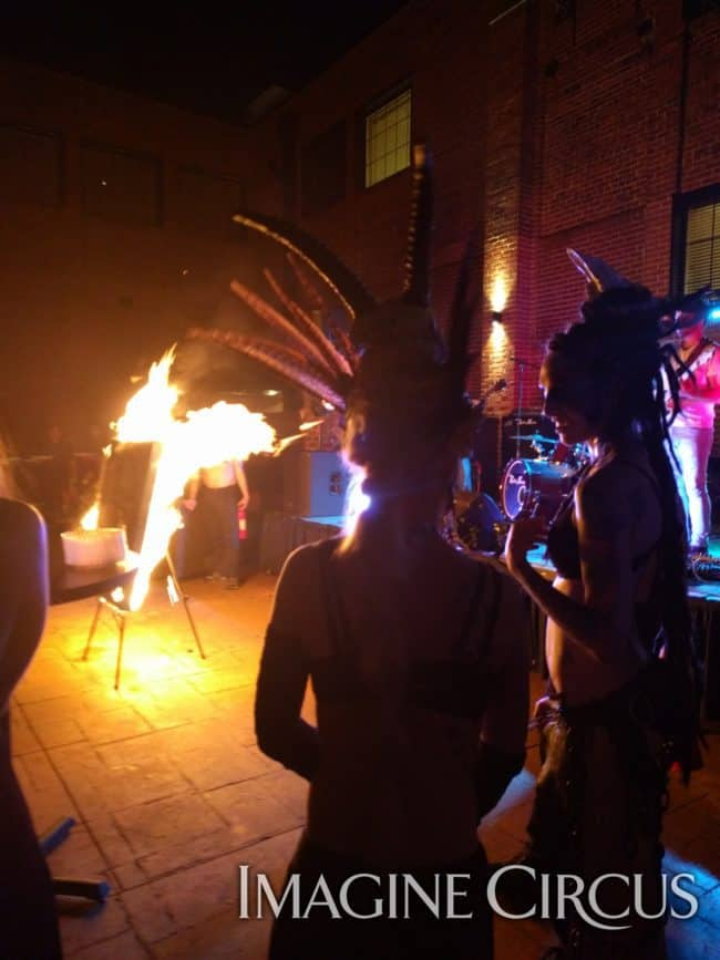 Fire, Classy Art, High Point, NC, Imagine Circus