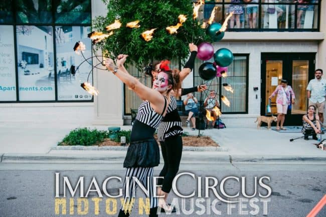 Fire Dancer, Fire Fans, Street Festival, North Hills, Irene, Imagine Circus