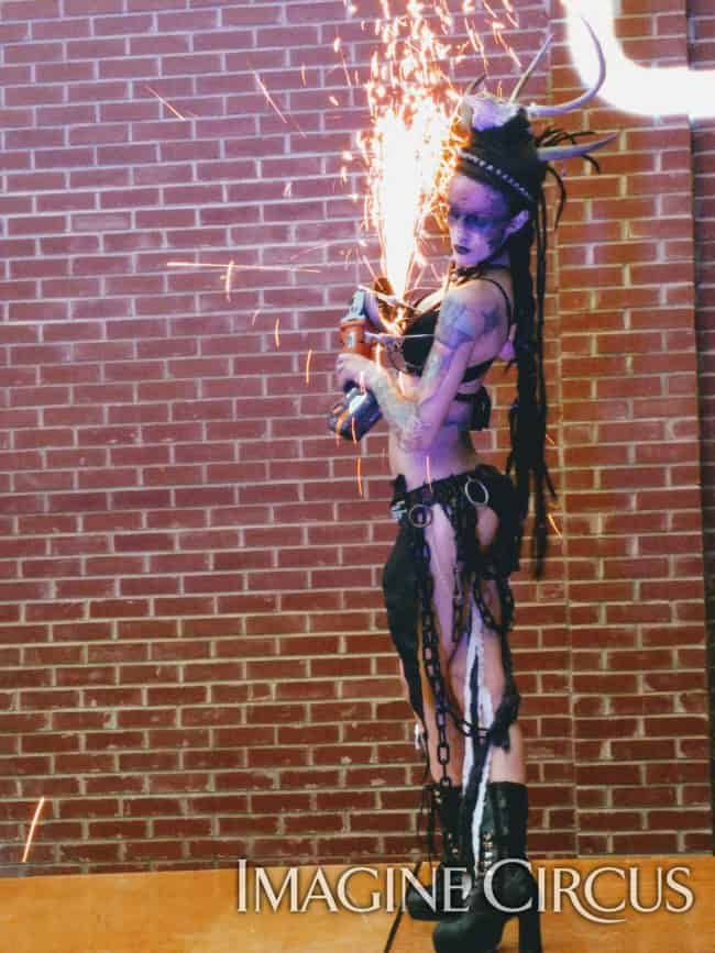 Fire Dancer, Grinder Girl, Sexy Performer, Tik Tok, Imagine Circus