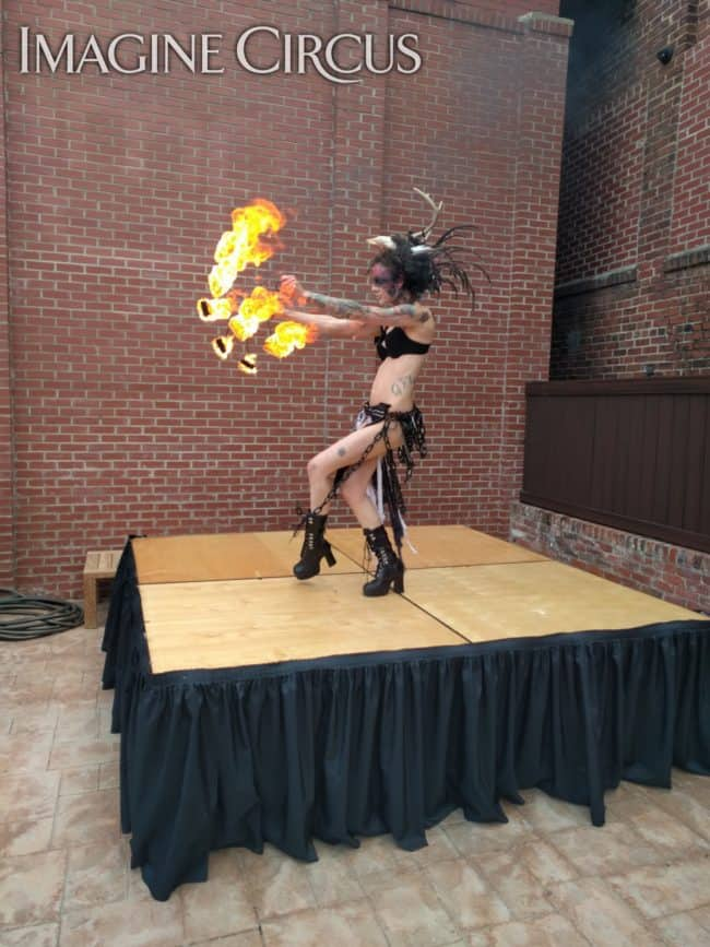 Fire Dancer, Sexy Performer, Tik Tok, Imagine Circus