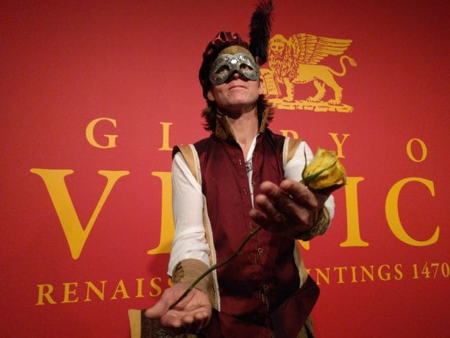Renaissance Living Statue | Venetian Masquerade | Joey | Imagine Circus Performers | Raleigh, NC