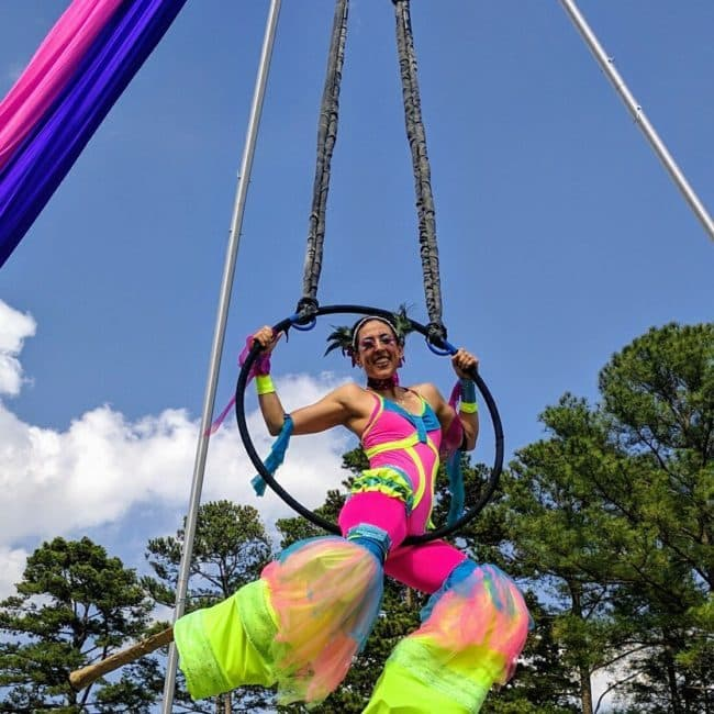 Aerial Performer & Stilt Walker | Liz Bliss | Imagine Circus | Raleigh, NC