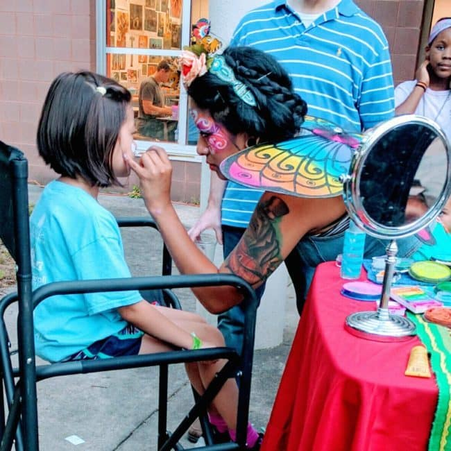 Face painting by Alexa | Imagine Circus | Raleigh, NC
