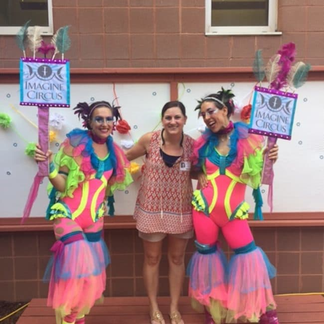 Hoop Jam and Circus Show at Elementary School | Katie & Liz | Imagine Circus | Raleigh, NC