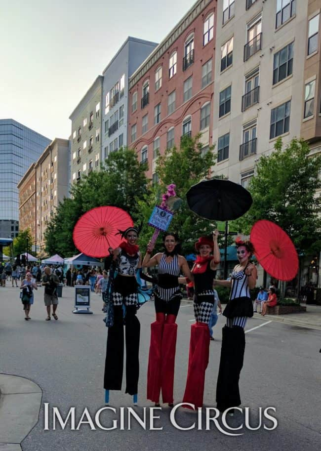 Stilt Walkers, Street Festival, North Hills, Kaci, Liz, Katie, Irene, Imagine Circus
