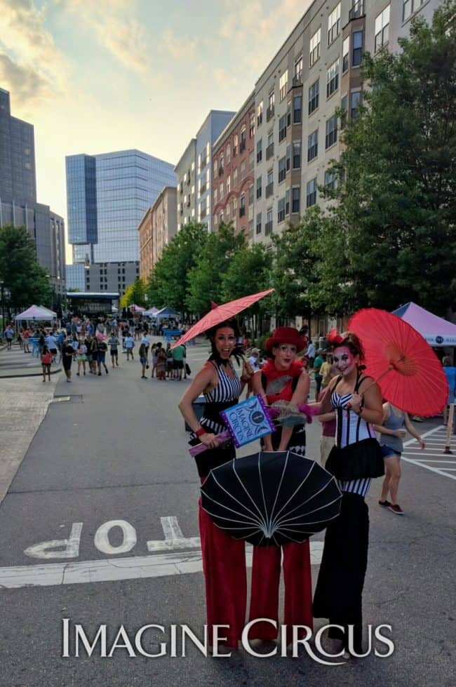 Stilt Walkers, Street Festival, North Hills, Liz, Katie, Irene, Imagine Circus