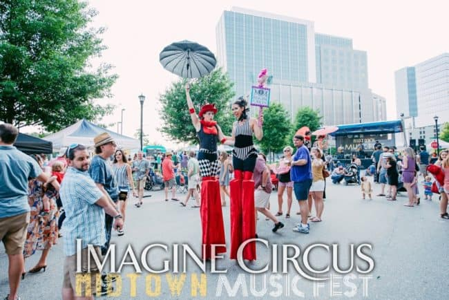 Stilt Walkers, Street Festival, North Hills, Liz, Katie, Imagine Circus