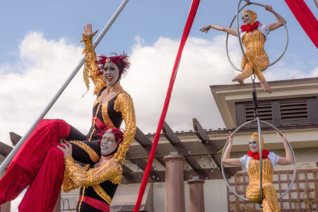 Stacro Act | Stilt Walking Acrobats | Cirque Performers | Liz Bliss & Adam | Imagine Circus | Raleigh, NC