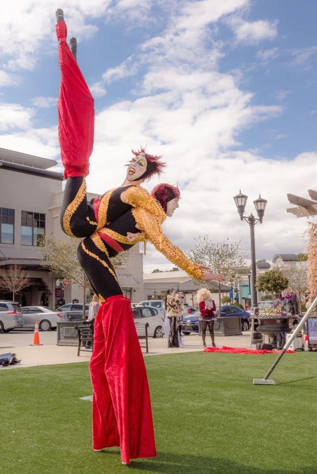 Stacro Act | Stilt Walking Acrobats | Cirque Performers | Liz Bliss & Adam | Imagine Circus | Raleigh, NC