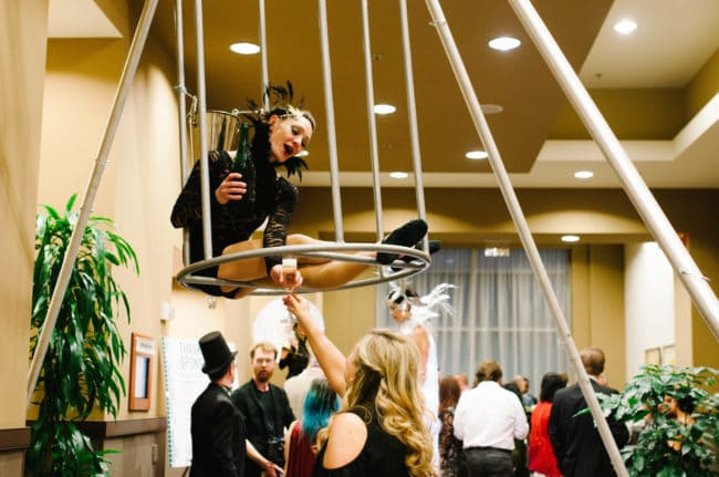 Aerial Bartender | Brittany | VAE Gala Event | Imagine Circus Performer | Raleigh, NC