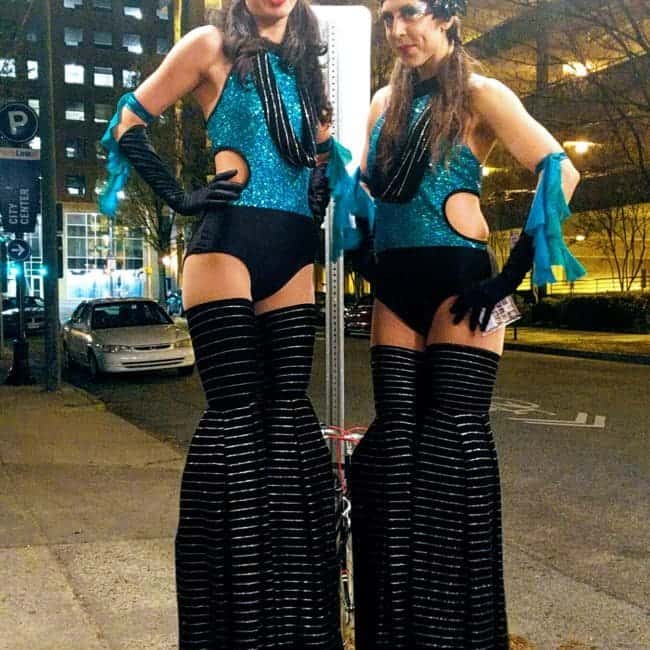 Disco Theme | 70's Stilt Walkers | Kaci & Liz | Imagine Circus