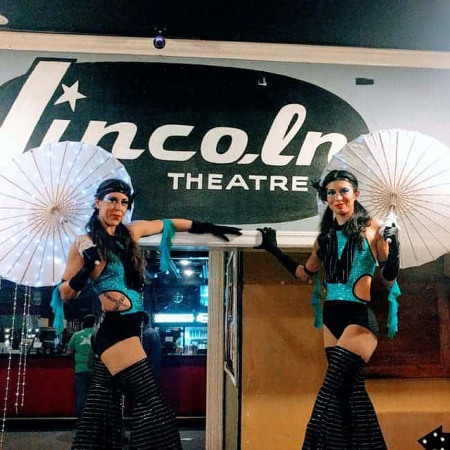 Disco Theme | 70's Stilt Walkers | Kaci & Liz | Imagine Circus | Lincoln Theatre Raleigh, NC