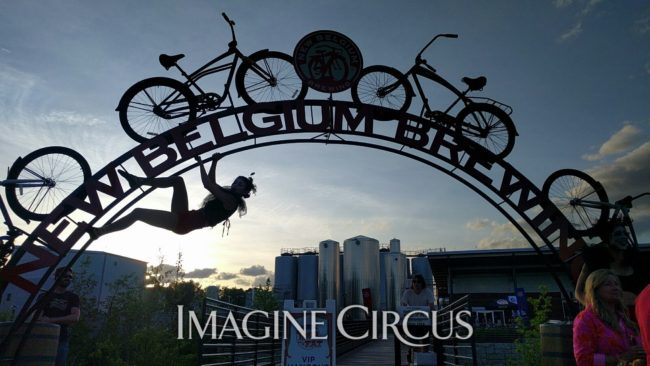 Acrobats at Tour de Fat Asheville | Kaci | Imagine Circus Performers | Raleigh, NC