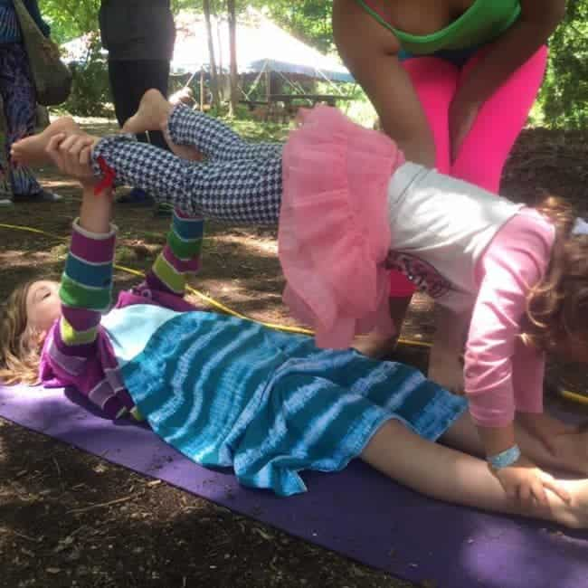 Circus Workshop at Shakori Hills Festival | Taught by Liz Bliss & Mari | Imagine Circus | Pittsboro, NC