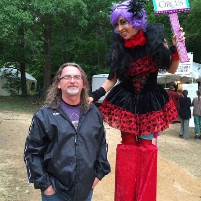 Stilt Walker at Shakori Hills Festival | Liz Bliss | Imagine Circus | Pittsboro, NC
