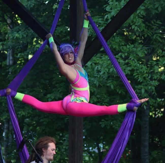 Aerialist Performing at Shakori Hills Festival | Liz Bliss | Imagine Circus | Pittsboro, NC