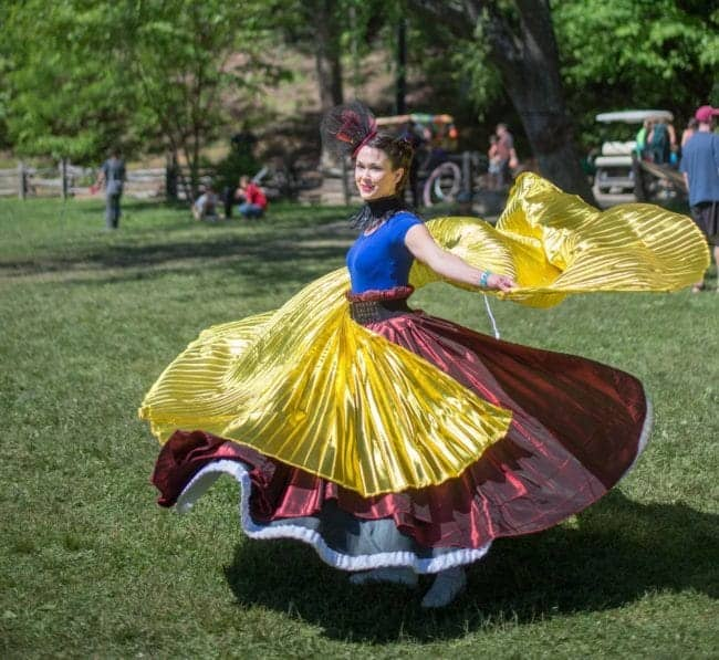 Spinning Skirt Dancer at Lake Eden Arts Festival | Mindy | Imagine Circus Performers | Photo by Steve Atkins