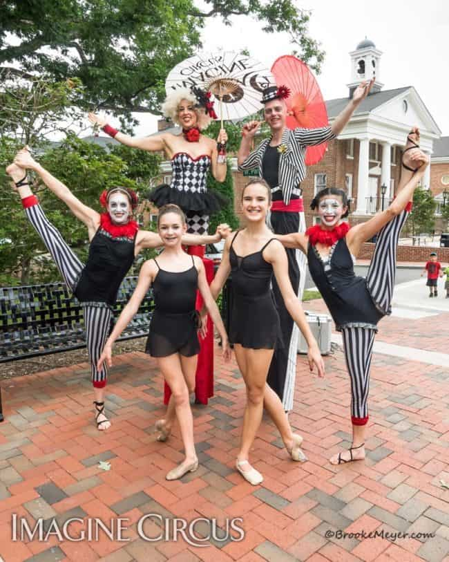 Stilt Walker, Street Festivals, Performers, Liz, Adam, Katie, Kaci, Cary, NC, Imagine Circus, Photo by Brooke Meyers