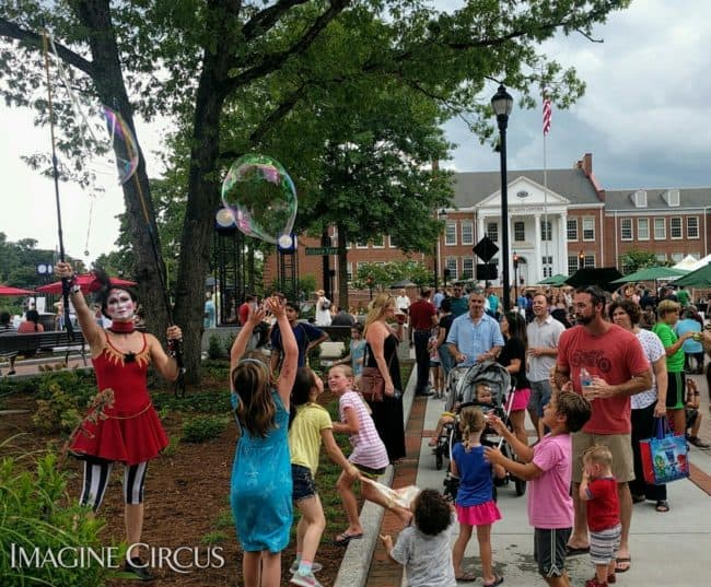 Bubble Artist, Giant Bubbles, Cary, NC, Performer, Mindy, Imagine Circus