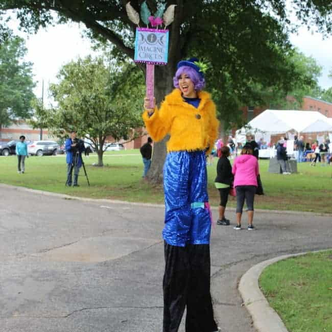 Stilt Walker at NAMI Walks Festival | Liz Bliss | Imagine Circus | Raleigh, NC