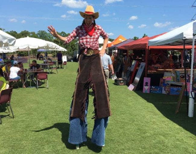 Stilt Walker at