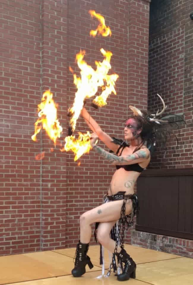 Sexy & Sultry Fire Performer at Classy Art Event | Tik-Tok | Imagine Circus | High Point, NC