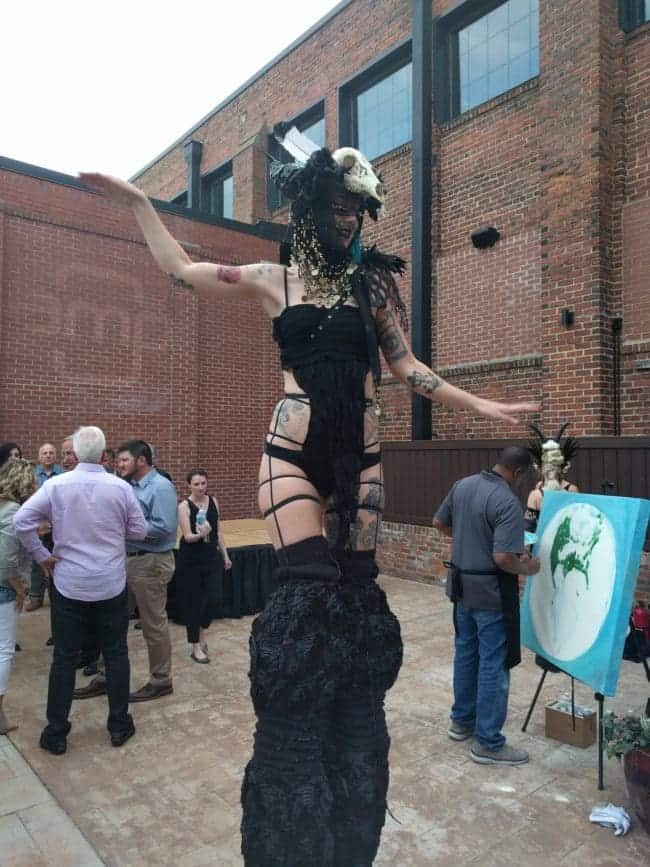 Sexy & Sultry Stilt Walker at Classy Art Event | Lacy Blaze | Imagine Circus | High Point, NC