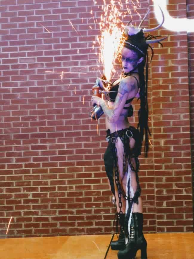 Sexy & Sultry Grinder Act at Classy Art Event | Tik-Tok | Imagine Circus | High Point, NC