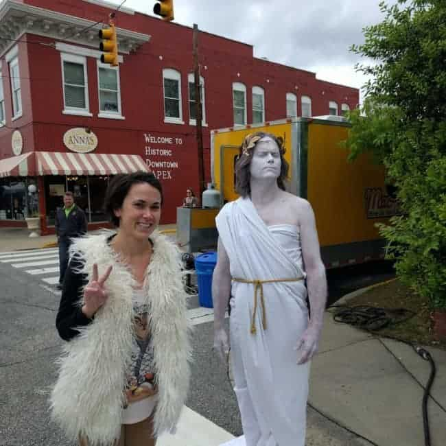 Living Statue at